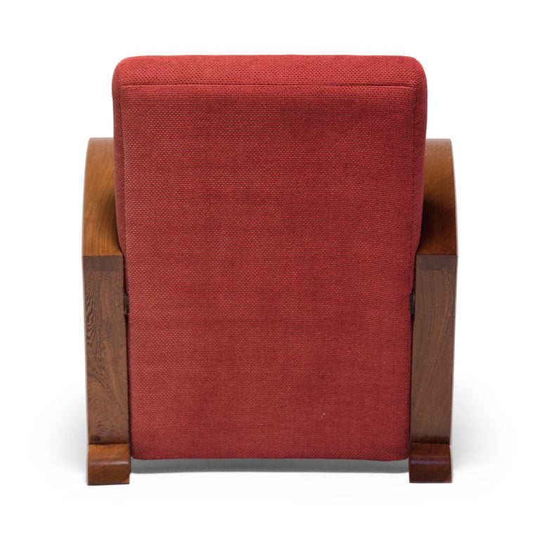 Mid-20th Century Chinese Art Deco Club Chair, circa 1920s-1930s For Sale
