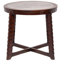 Chinese Art Deco Marble Top Table