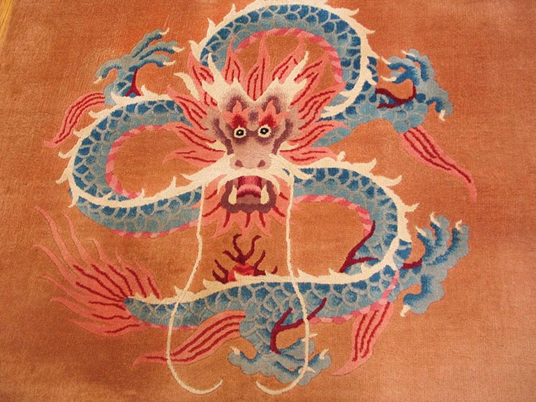Chinese Art Deco Rug In Good Condition For Sale In New York, NY