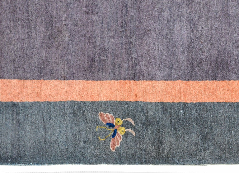 Wool Chinese Art Deco Rug For Sale