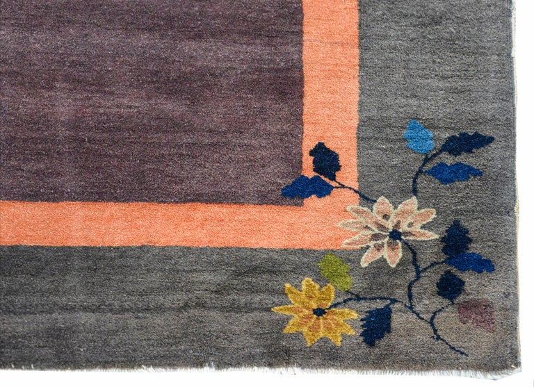 Chinese Art Deco Rug For Sale 2