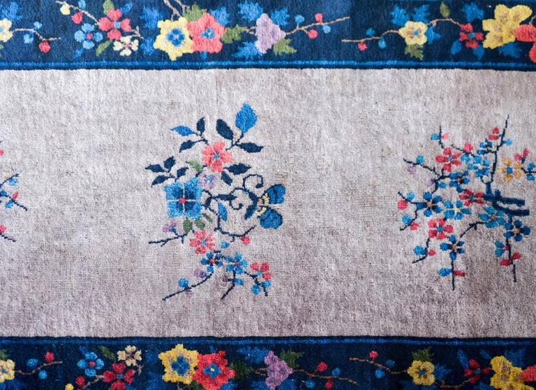 Hand-Knotted Chinese Art Deco Runner For Sale