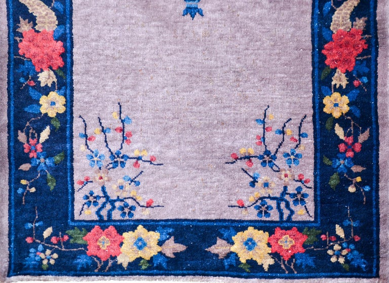 Wool Chinese Art Deco Runner For Sale