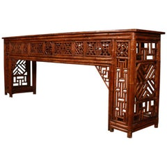 Chinese Bamboo Console Table