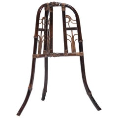 Chinese Bamboo Folding Hat Stand, circa 1850