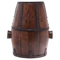 Chinese Barrel-Form Grain Container, c. 1900