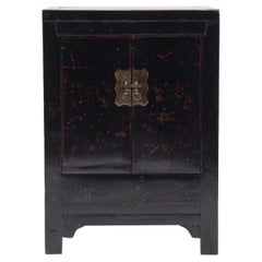 Chinese Black Lacquer Side Cabinet, c. 1850