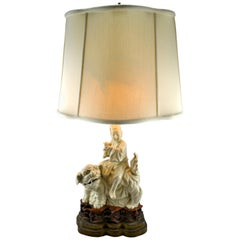 Chinese Blanc De Chine Porcelain Figural Lamp
