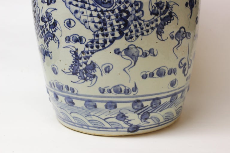 Chinese Blue And White Ceramic Garden Stool For Sale At