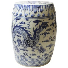 Chinese Blue and White Ceramic Garden Stool