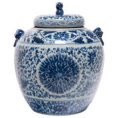 Chinese Blue and White Chrysanthemum Ginger Jar