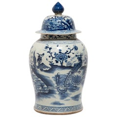 Chinese Blue and White Phoenix Ginger Jar