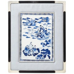 Chinese Blue and White Porcelain Deity Plaque
