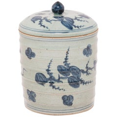 Chinese Blue and White Tea Leaf Canister