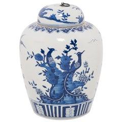 Chinese Blue and White Tea Leaf Jar