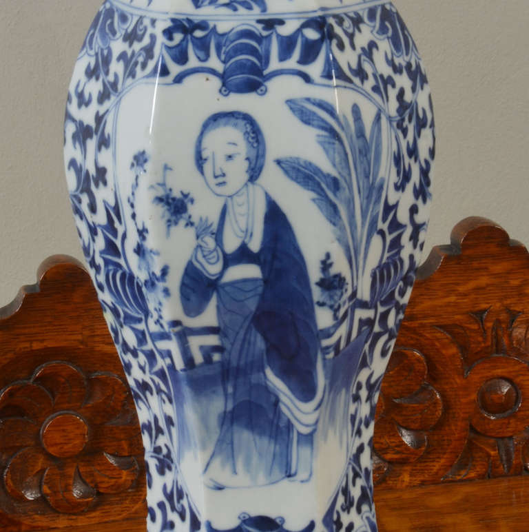 20th Century Chinese Blue and White Vase For Sale
