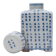 Chinese Blue and White Xuande Wine Vessel, circa 1900