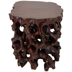 Chinese Boxwood Root Pedestal Stand