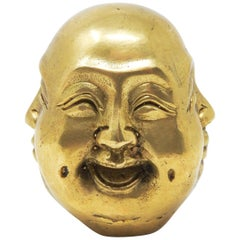 Chinese Brass Buddha Head Chop Seal