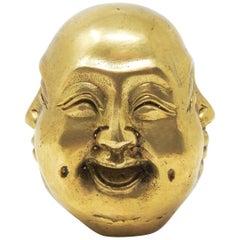 Chinese Brass Buddha Head Chop Seal