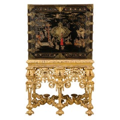 Chinese Brass-Mounted Coromandel Lacquer Cabinet on a Charles II, circa 1685