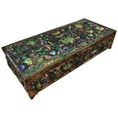 Chinese Bronze and Enamel Box