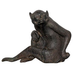 Chinese Bronze Monkey Statue, 18th Century