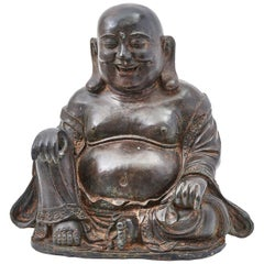 Chinese Bronze Sculpture of Seated Laughing Buddha, 19th Century