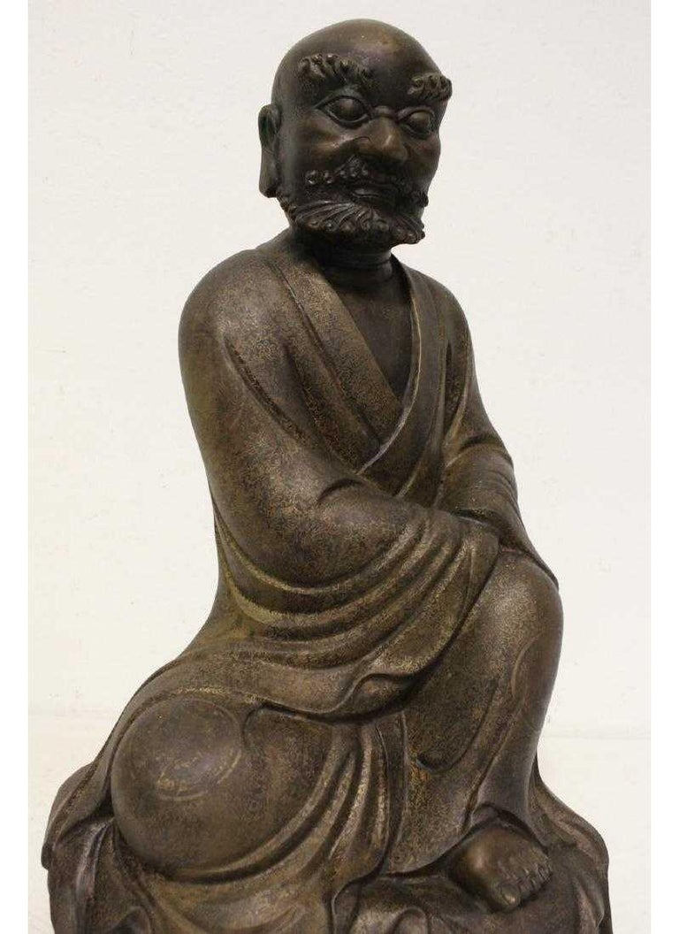 Chinese Bronze Seated Lohan For Sale 2