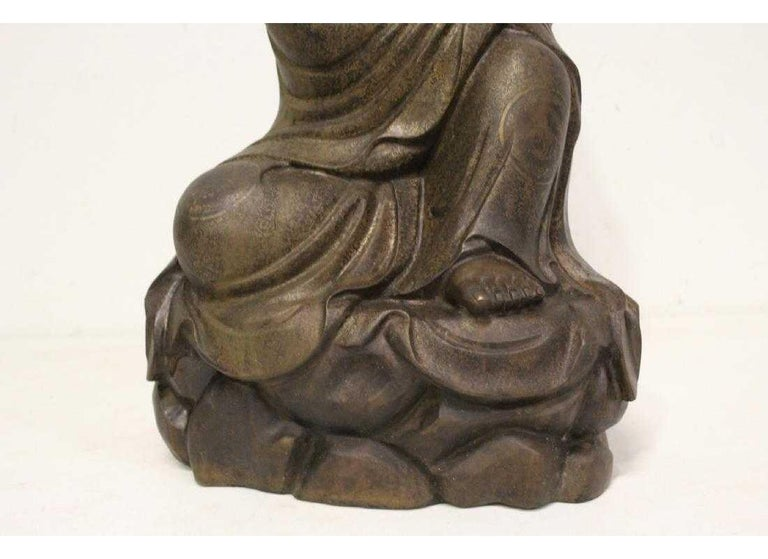 Chinese Bronze Seated Lohan For Sale 3