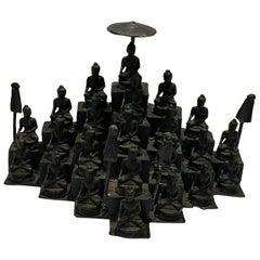 Chinese Bronze Temple of 22 Buddhas