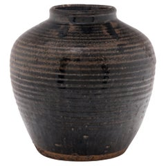 Chinese Brown Glazed Storage Jar, c. 1900