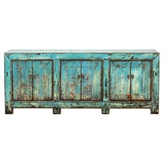 Chinese Cabinet with Three Doors and Restoration