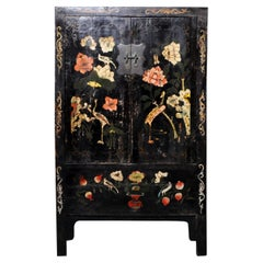 Chinese Cabinet with Two Drawers and Shelves