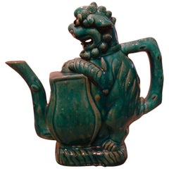 Chinese Cadogan 'Foo Dog' Teapot, Guangxu Tea / Coffee