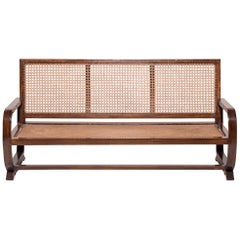 Chinese Caned Three-Seat Sofa