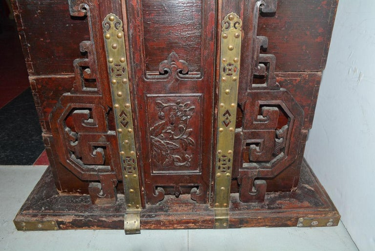 Hand-Carved Chinese Carriage Box For Sale