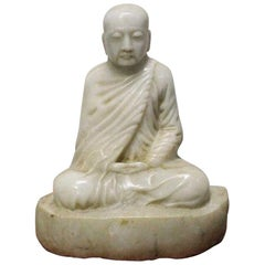 Chinese Carved Burmese Marble Buddha
