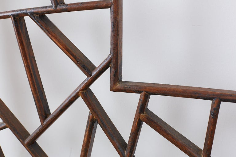 Chinese Carved Cracked Ice Lattice Panel For Sale 6