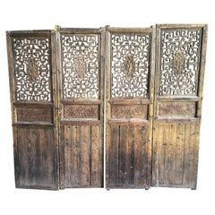 Chinese Carved Doors, 18th Century