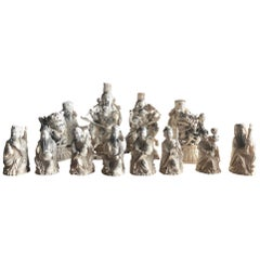 Chinese Carved Figurines, Hong Kong, circa 1950