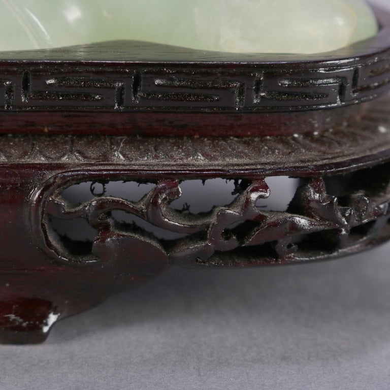 Chinese Carved Jade Figural Grouping of Birds, Pheasant & Sparrow, 20th Century For Sale 3