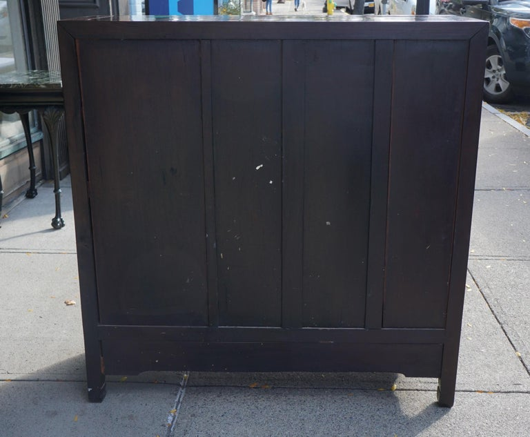 Chinese Carved Rosewood Cabinet For Sale 5