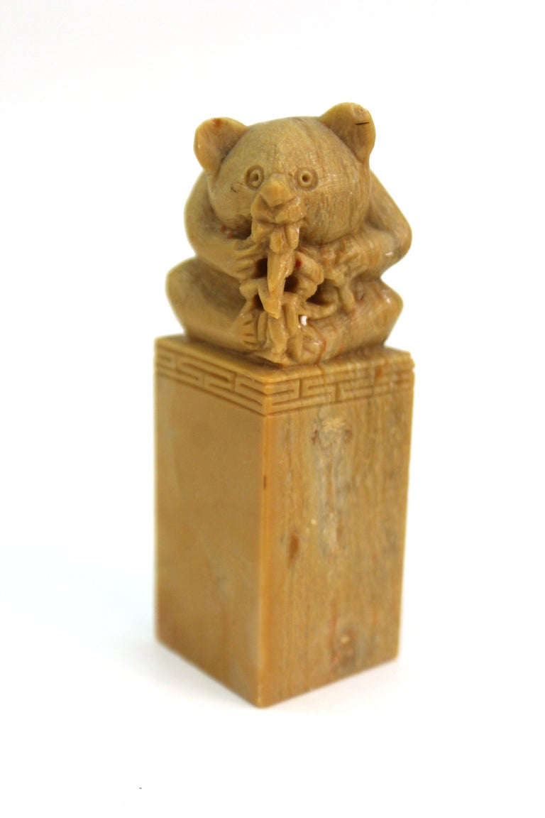 20th Century Chinese Carved Soap Stone Figurines For Sale