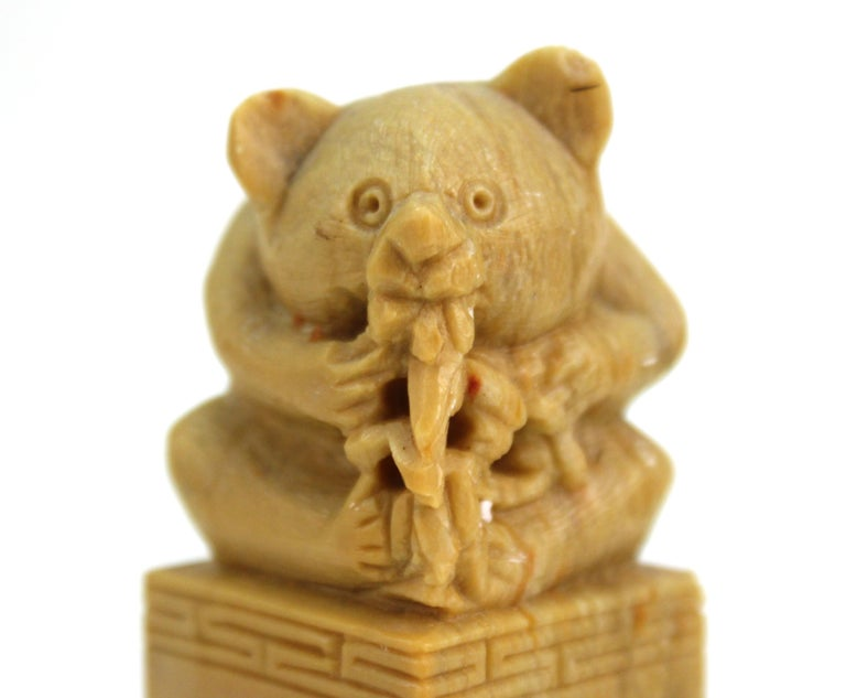 Chinese Carved Soap Stone Figurines For Sale 1
