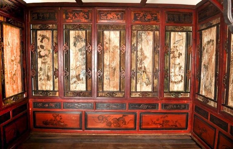 Chinese Carved Wedding Bed, Qing Dynasty, circa 1880 For Sale 2