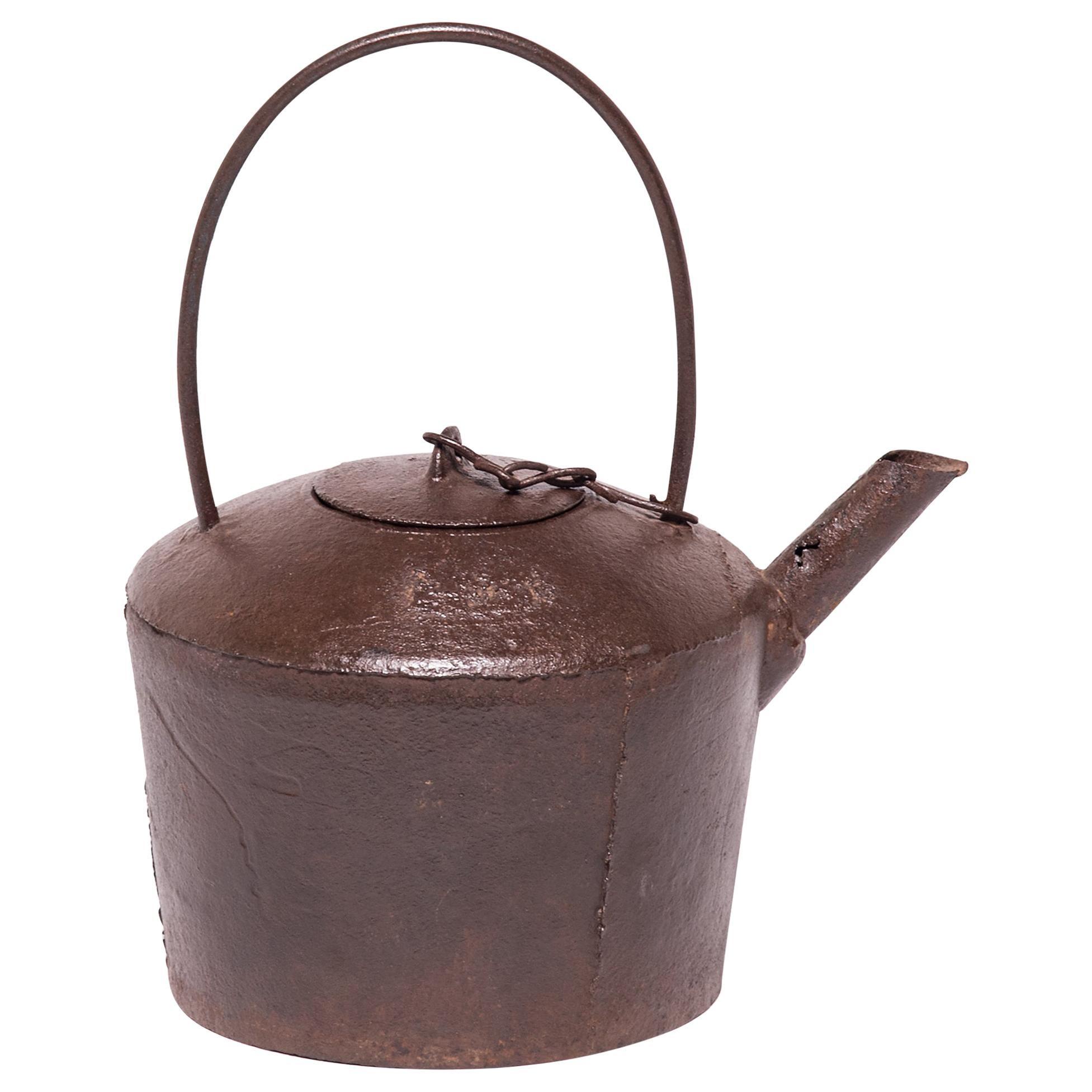 Chinese Cast Iron Tea Pot, c. 1900
