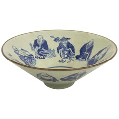 Chinese Celadon and Blue Porcelain Bowl