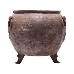 Chinese Celestial Sea Cast Iron Vessel