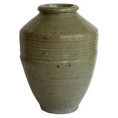 Chinese Ceramic Ming Yao Jar or Vase Celadon Glaze, Early 17th Century